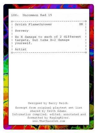 Orcish Flamethrower (#106) - Original Playtest